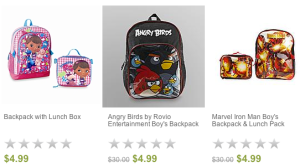 Sears: Children's Backpacks only $4.99 SHIPPED!