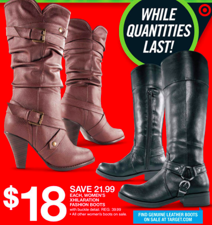 Target: Women's Boots only $15.50 a Pair!