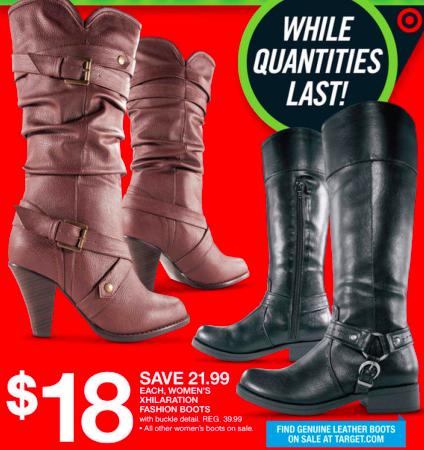 target ladie's boots