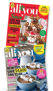 BOGO All You Magazine Subscription = $.83 an Issue!