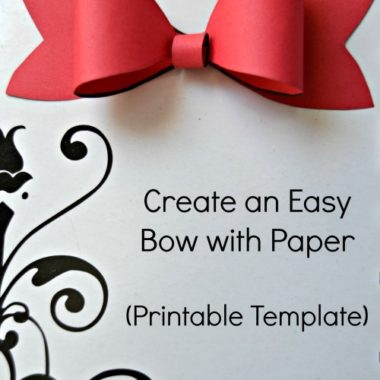 Printable Paper Bow Template