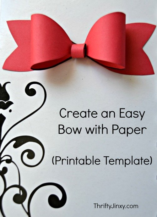 card craft for valentine day - Printable Paper Bow Template Make Your Own Package