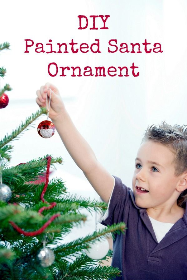 DIY Painted Santa Ornament Craft