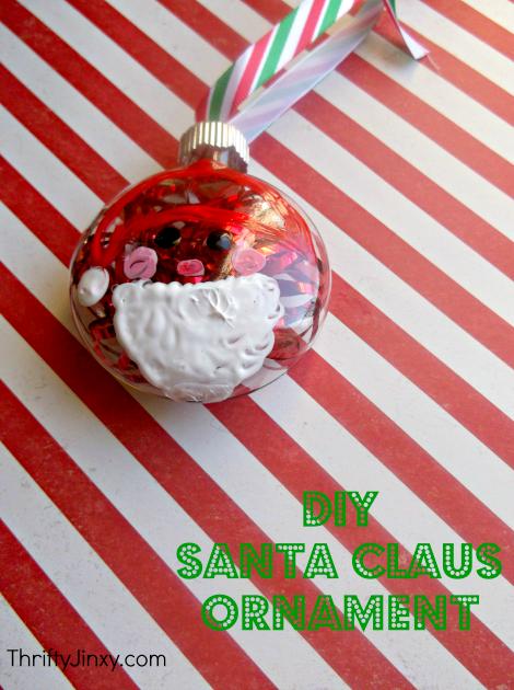 DIY Santa Claus Ornament Craft
