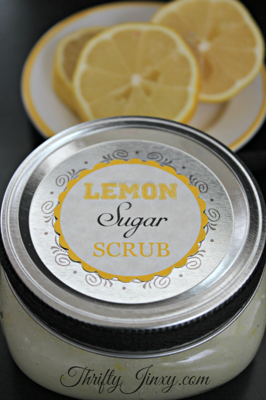 Lemon Sugar Scrub Recipe | Thrifty Jinxy