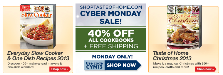 All Taste of Home Cookbooks 40% Off + FREE Shipping!!