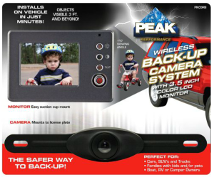 Make Safety a Priority with a PEAK Back-Up Camera