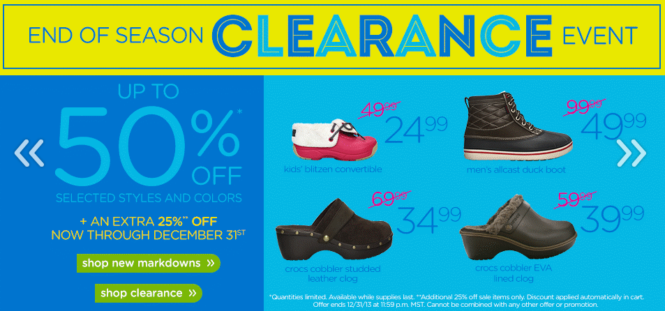 bb8e2167c Crocs End of Season Clearance Up to 50% Off PLUS an Extra 25% Off ...