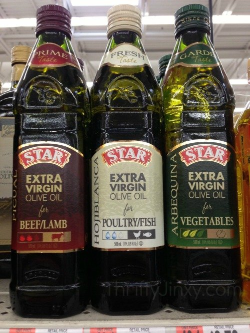 Star Usage Pairing Olive Oils