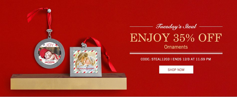 Beautiful Photo Ornaments 35% Off – Today Only!
