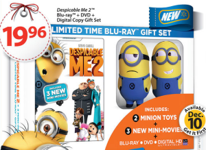 Despicable Me 2 Released Today! Only $19.99 for Blu-Ray Combo at Best Buy and Walmart!