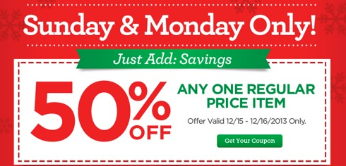 50% Off One Item from Michael's – Today Only