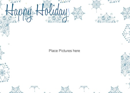 FREE Printable Photo Card Template Just Print Add Your Photo – Holiday Card Template