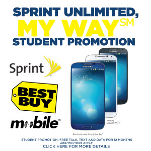 Awesome Student Mobile Plan Offer from Sprint and Best Buy Mobile Specialty Stores