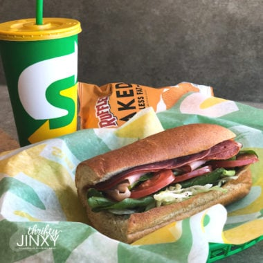 subway sandwich with drink