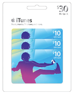 3-Pack of $10 iTunes Gift Cards only $25 Shipped!
