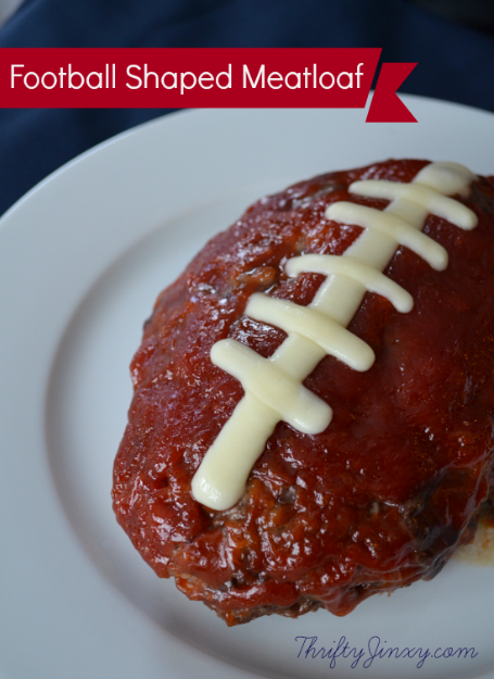 Football Shaped Meatloaf – Fun Super Bowl Recipe Idea