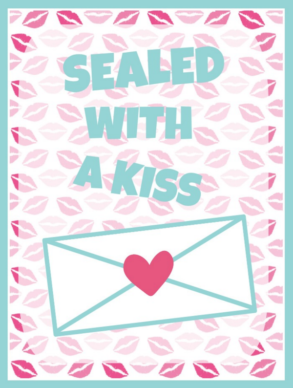 Sealed with a Kiss Free Printable Valentine Wall Art
