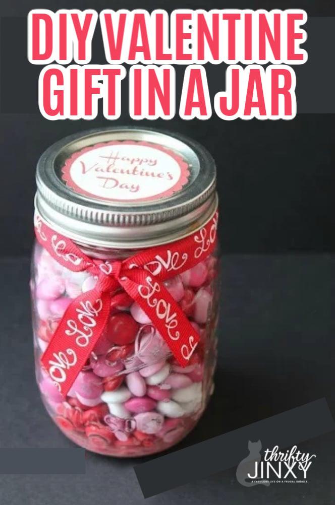 Valentine Jar Gift with Printable Label