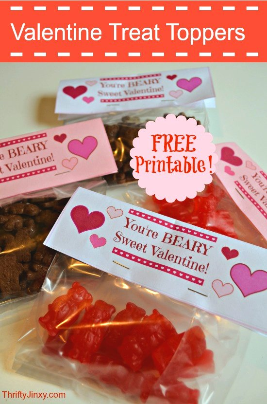 Valentine Treat Bag Toppers