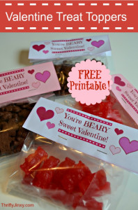 Free Printable Valentines Day Treat Toppers