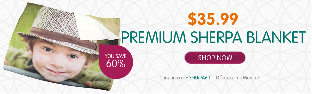 Custom Photo Sherpa Blanket only $36 from Ink Garden! (reg $90)