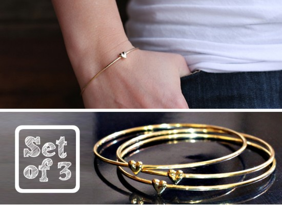 Set of 3 Beautiful Heart Bracelets only $3 Shipped from Modern Penny!
