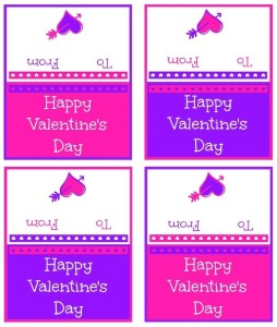FREE Printable Valentine Cards Minis in Pink and Purple