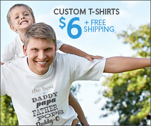 Customized T-Shirt Only $6 with FREE Shipping