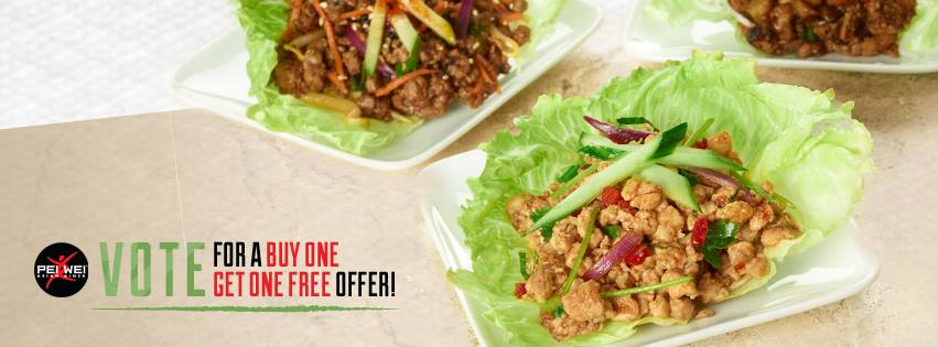Pei Wei Buy One Get One FREE Entrée Coupon