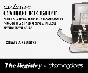 Create a Bloomingdale's Bridal Registry and Get a FREE Travel Jewelry Case!