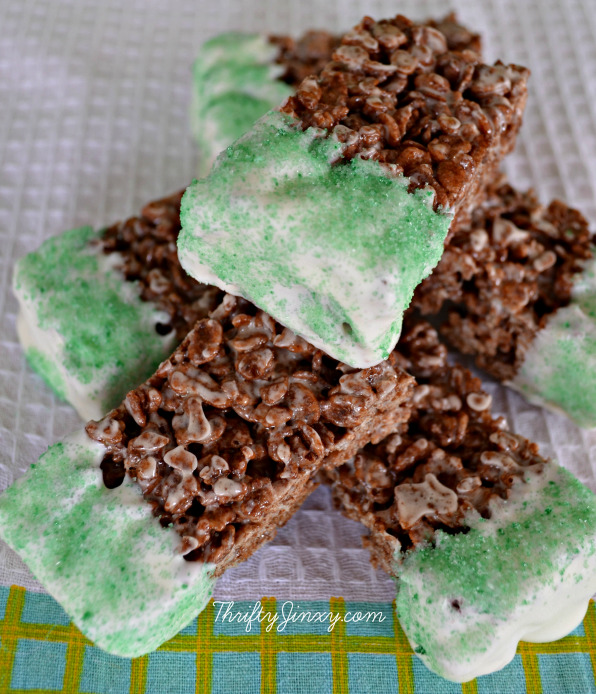 Chocolate Mint Krispy Treats
