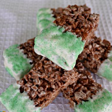 Chocolate Mint Rice Krispy Treats