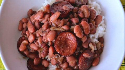 Crockpot-Red-Beans-Rice recipe