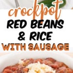 Crockpot Red Beans and Rice with Sausage (1)