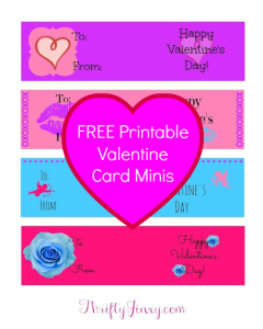 FREE Printable Valentine Cards Minis