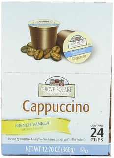 Amazon: Grove Square Cappuccino K-Cups only $.33 Each!