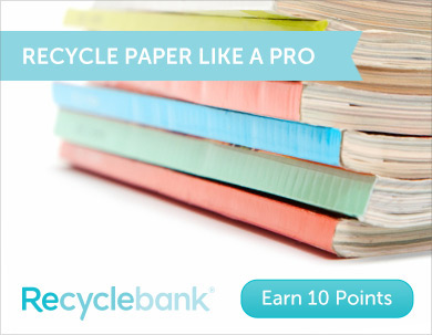 10 FREE Recyclebank Points – Learn About Paper Recycling