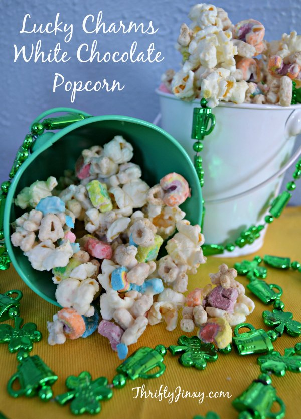 Lucky Charms Popcorn with White Chocolate Recipe