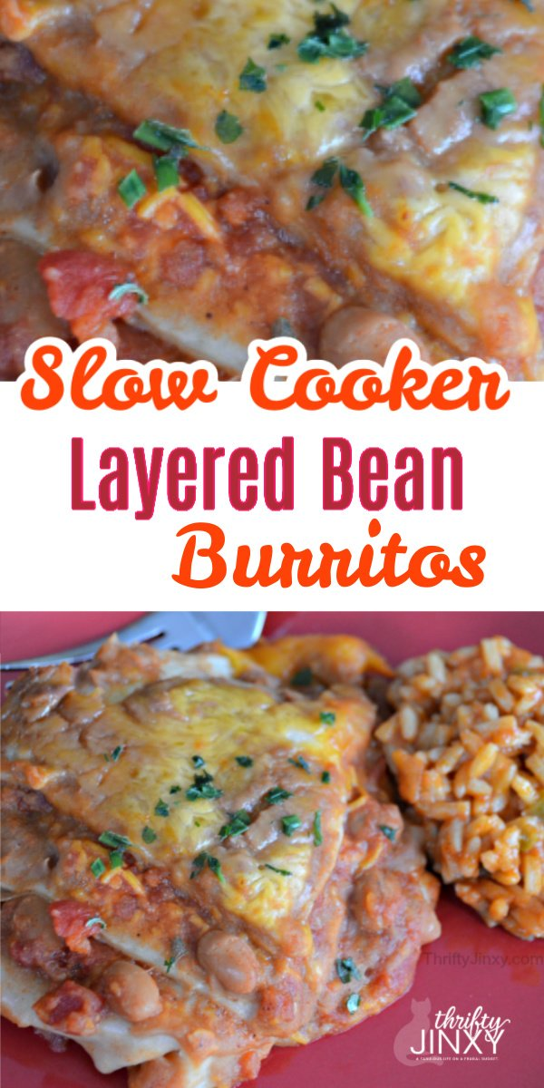 Slow Cooker Layered Bean Burritos