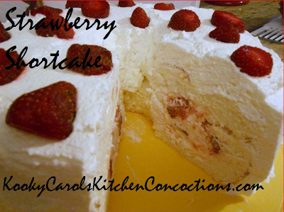 Stuffed Strawberry Shortcake with Marshmallows and Pineapple Recipe