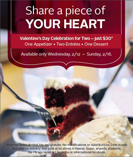 Valentine\'s Day at California Pizza Kitchen + Enter to Win a $100 ...