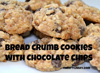 Bread Crumb Cookies Recipe with Chocolate Chips – Use Up Your Stale Bread or Crusts!