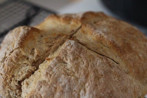 Irish Soda Bread with Cross on Top