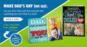 FREE Father's Day Card with FREE Shipping Offer Extended Until 5/31!