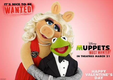 Happy Valentine's Day from Thrifty Jinxy and Muppets Most Wanted