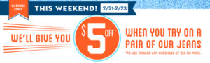 $5 Off $35 at Old Navy Stores + Up to 25% Off Online!
