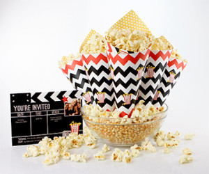 FREE Printable Movie Night Popcorn Cones – Make Your Own Snack Holders!