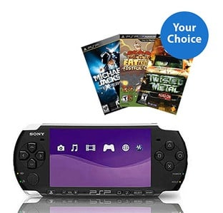 Sony PSP Game System + Three Games only $99 Shipped!