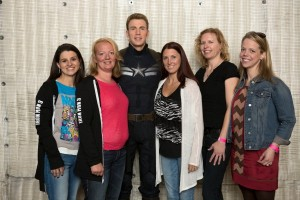 Chris Evans with Bloggers on Set of CAPTAIN AMERICA: THE WINTER SOLDIER